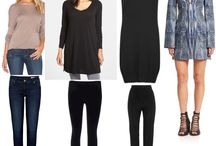 Project 333 and capsule wardrobe- my silhouettes / Silhouette ideas for wardrobe planning.
