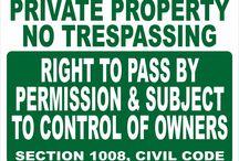 Civil Code Signs