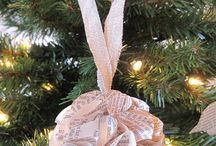 Bookish Trees / Trees, ornaments, and other decorations made from books and pages.