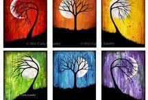 drzewa prace plastyczne