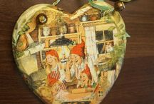 Wood Heart Decor Hanging decoration Christmas by elenaaleshina