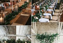 Set the Mood | Industrial Chic / Wedding Theme: Industrial  Touches of iron, wire, and concrete. Steel grays and brick environments. Geometric shapes and patterns, lightbulb lighting, dark wood accents