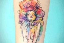 cover up ideas / Tattoo ideas for my forearm tattoo. Mostly watercolor tattoos & prints / by Kirsten Johnson