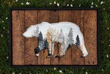 peinture photos sur bois