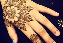 Mehendi and Henna paintings