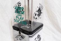 Soccer / custom gumball machine for the soccer lovers order yours today at www.customgumballsmachines.com