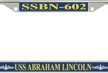 US Navy Submarine License Plate Frames / This Officially Licensed U.S. Navy Submarine License Plate Frames are made in the USA from the quality finished metal alloy with UV resistant graphics. http://www.priorservice.com/us-navy-submarine-license-plate-frames.html