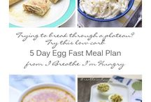 egg fast recipes and info / by Heather @ Living on Love and Cents