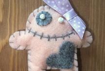 Cute Monsters - felt charms
