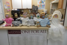 """Flour Babies / Life skills class project, create a flour """"baby"""" using a 5 pound bag of flour made up to be a baby.  The class is required to carry the """"baby"""" for 7 days and journal the experience.  The project also involves sewing skills to sew the head, arms and legs."""