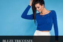 Modele bluze tricotate pentru femei / bluze tricotate dama