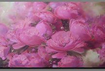 Flowers, still life -painting / « Il y a des fleurs partout pour qui veut bien les voir. »  \ Matisse \ / by OISEAU