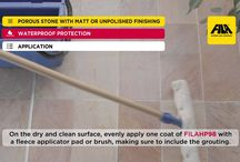 FILA Surface Care Solutions / Cleaning and protection products that keep the surfaces in your home healthy and beautiful.