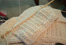 Kluter og annen småstrikk/Cloths and misc knitting