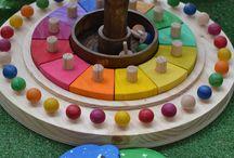 Juegos de madera y otros para niños