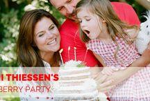 Tiffani Thiessen Strawberry Party / Tiffani Thiessen's strawberry kids party on Cakes Inc http://cakes-inc.com/tiffani-thiessens-strawberry-kids-party/