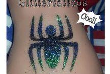 Glittertattoos by Face Fantasy | BodyArt / Glittertattoo Glitter Tattoos Bodyart Glitter Tattoo Temperary tattoo Amersfoort  Www.facefantasy.nl
