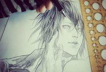 Pencil sketches by KhaosKai