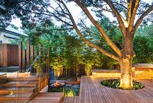 Back deck and garden ideas