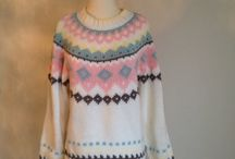 Vintage Sweaters for a Country Walk in the Fall / I've chosen the sweaters that would be worn when walking down a country backroad in the fall. Crisp cool air, bright sunshine, leaves swirling around, crunching under your feet.
