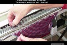 Видео машинное вязание