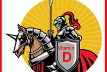 Vitamin D For Health / Vitamin D is good for bones and overall health.  It can help improve a person's mood and energy level. It is called the sunshine vitamin because your body can produce it using the ultraviolet rays of the sun.