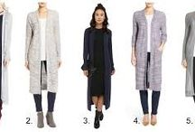 Cardigan styles / Knit casual jackets - lengthen many of the patterns to thigh / knee / calf for a 'trendy' look.  Several groups : sporty styles, slim and fitted with full skirts, loose and long with pants