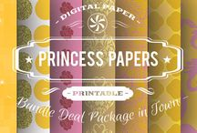 PRINCESS PAPERS / DIGITAL PAPERS - PRINCESS PAPERS  BY DIGITAL PAPER SHOP