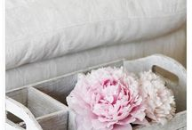 Pink, White and blue shabby