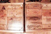 Wine crate furniture