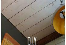 DIY wood ceiling and floors