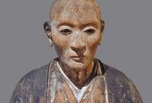 asie sculpture têtes et visages