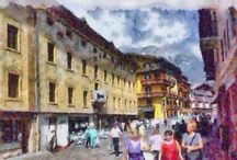 Cortina dipinta / Immagini..da foto a dipinti