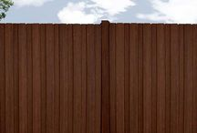 Outdoor Fencing by Fiberon Composites / Fiberon composite fencing looks like traditional wood fencing but performs likes a modern composite -- meaning you'll never need to paint, stain or replace a cracked, splintering fence again. Here are some great fencing ideas and looks using Fiberon composite fencing. These products are available online at HomeDepot.com (Veranda brand) and Lowes.com (Woodshades brand).  For best results, always refer to Fiberon installation instructions.