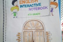 Interactive notebook for primary school students / English lesson activities. Handmade notebook by kids. 2nd grade 3th grade 4th grade students.