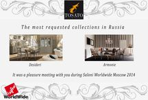 Saloni Worldwide Moscow: our thanks / It was a pleasure to meet with you at I Saloni Worldwide Moscow 2014