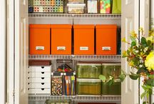 Craft Rooms and Closets / Crafting, sewing, scrap booking...all these GREAT ideas, and very little time.  Increase your creative time by establishing a craft area..have fun / by HouseOrganized