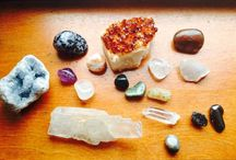 stoned. / Healing crystals.  Wraps.