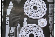 Crochet and lace earrings / By Milù Bijoux fb: http://facebook.com/milubijoux1974