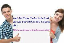 SOCS 350 Study Materials For DeVry University