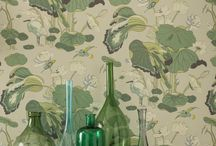 Nympheus / This enduring GP & J Baker classic was created exclusively for the company by the renowned British textile designer William Turner in 1915. A Ming dynasty (15th – 16th century) painting on a silk panel in the British Museum was Turner's inspiration for the Nympheus design featuring drooping lotus leaves and birds contrasting the patient stillness of the egret with the quick decisive movements of the kingfisher.