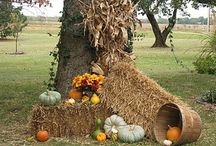 Fall outside decorating