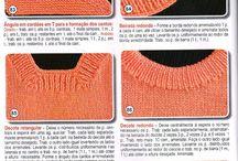 Para acabamentos, cavas...  tricot