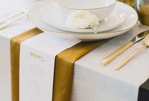 Aurora Maria 73 aranjarea meselor  festive pe culoarea auriu si alb
