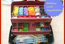 Rainbow Loom / Ideas for rainbow loom bracelets and storage