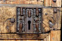 Herrajes para puertas y ventanas. Antiguos