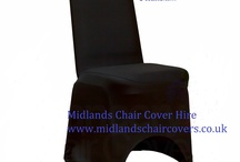 Black lycra chair covers..