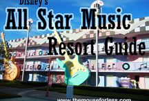 Disney's All-Star Music Resort at Walt Disney World / A Value Resort located near Animal Kingdom. Resort maps, discount codes, savings, information, room layout, resort guides, tips, fun facts, dining, menus, food, photos, room rates, vacation packages, recreation, pools, kid's activities, and other important information to help you plan your Disney vacation.