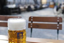 """The Biergarten / """"What an elder sees sitting; the young can't see standing."""" - Gustave Flaubert"""