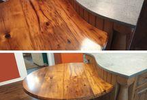 Custom Chestnut Tables